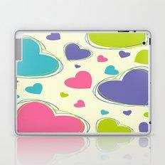 Cute Playful Hearts Pattern Laptop & iPad Skin