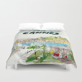 Winter In Cannes Duvet Cover