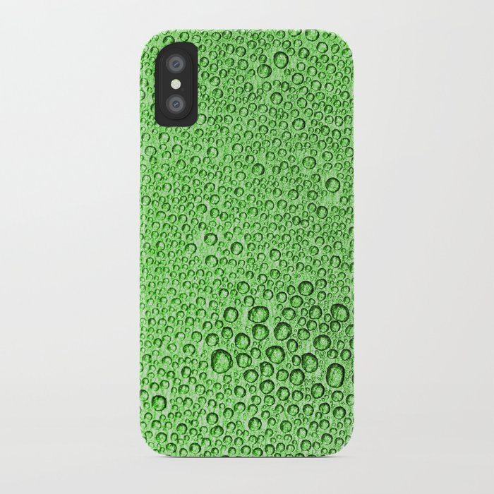 Water Condensation 05 Green iPhone Case