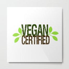 Vegan Certified Metal Print
