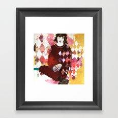 Arlecchino seduto Framed Art Print