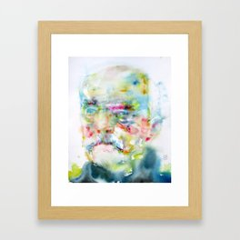 OTTO VON BISMARK - watercolor portrait Framed Art Print