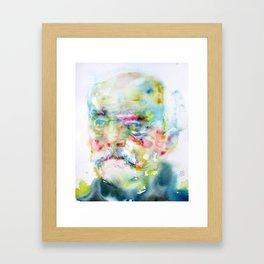 OTTO VON BISMARK - watercolor portrait Framed Art Print