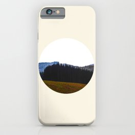 Edge Of The Forest Landscape Round Photo iPhone Case