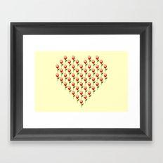 Heart in Bloom Framed Art Print