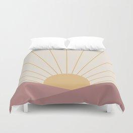 Morning Light - Pink Duvet Cover