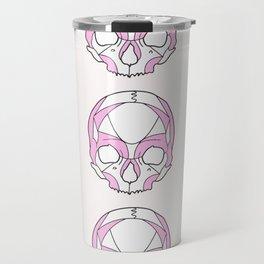 Skulls in Pink Travel Mug