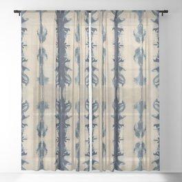 Shibori Flowers Sheer Curtain
