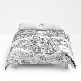 Rotterdam White Map Comforters