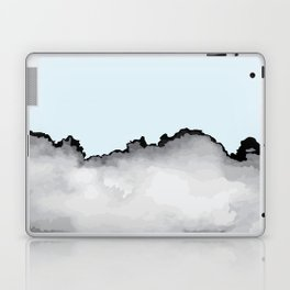 Light Blue Gray and Black Graphic Cloud Effect Laptop & iPad Skin