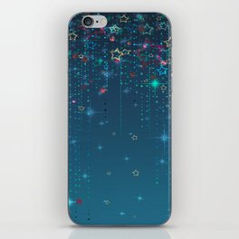 Magic fairy abstract shiny background with stars iPhone Skin