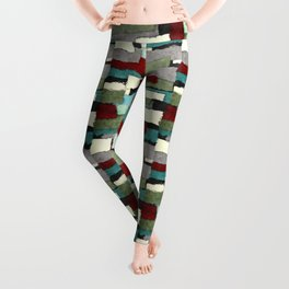 Colorful Patches Abstract Leggings