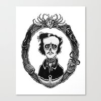 poe Canvas Prints featuring Poe by Shawn Dubin