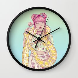 Candid Candy Lady Wall Clock
