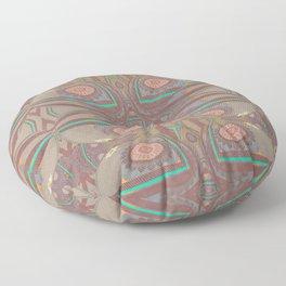 Pallid Minty Pattern 4 Floor Pillow