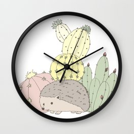 Prickly Little Friends Gathering Wall Clock
