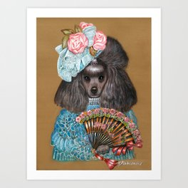 Poodle. Lady from Spain Art Print