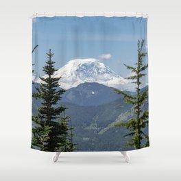 Mount Rainier Framed Shower Curtain