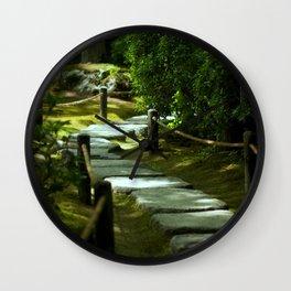 Moss gardern path Wall Clock
