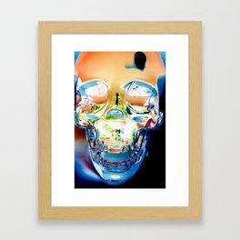 Invert Skull  Framed Art Print