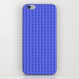 Retro Blue Squares iPhone Skin