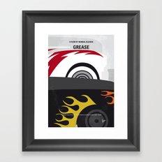 No674 My GREASE minimal movie poster Framed Art Print