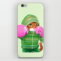 boxing iPhone & iPod Skins featuring BOXING CAT 4 by Tummeow
