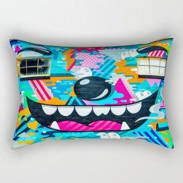 Face on a wall Rectangular Pillow