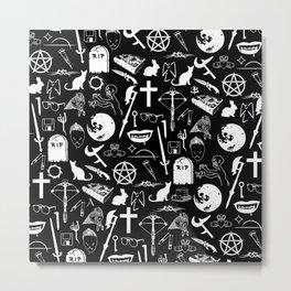 Buffy Symbology - White Metal Print
