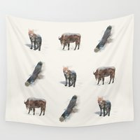 totem Wall Tapestries featuring Totem by Quick Brown Fox