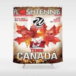Flashtennis Magazine Cover of Tenis Canada Shower Curtain