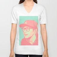 bubblegum V-neck T-shirts featuring Bubblegum by Rosketch