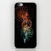 fireworks iPhone & iPod Skins featuring Fireworks by Tanya Thomas