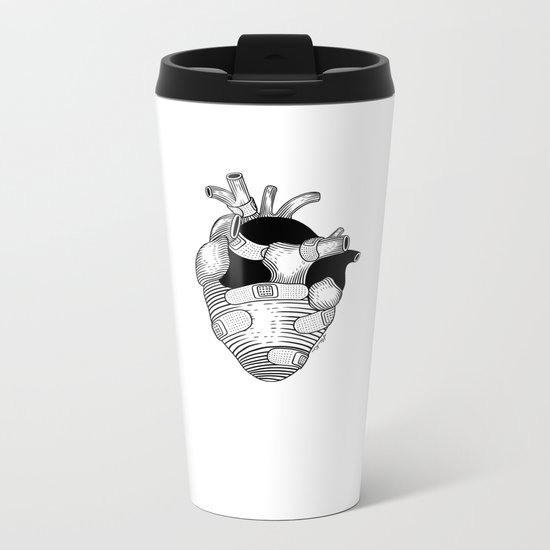 The strongest hearts have the most scars Metal Travel Mug