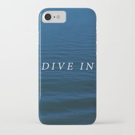 DIVE IN iPhone Case