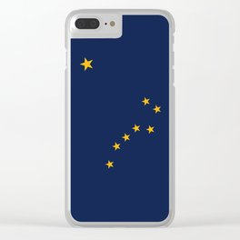 Alaskan State Flag Clear iPhone Case