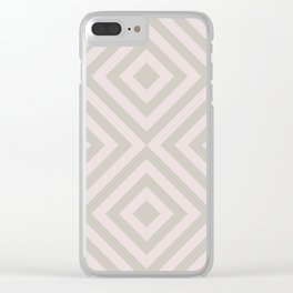 MONO:CHROMA Geometrica Earthy Pink Clear iPhone Case