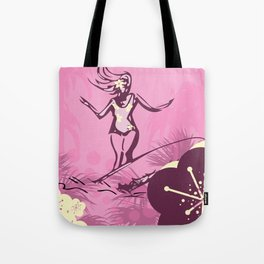 Lovely in Pink- A Tropical Surfer Gal Tote Bag