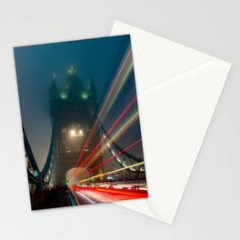 Foggy London Town - Tower Bridge Stationery Cards