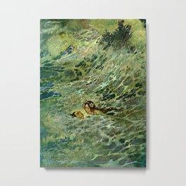 """The Mermaid in the Sea"" by Edmund Dulac Metal Print"