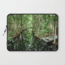 Swamp Boat Laptop Sleeve