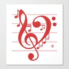 Love Music ~ Valentines Edition ~ Canvas Print