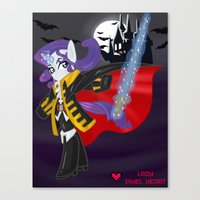 castlevania Canvas Prints featuring Castlevania Symphony of the Night: Rarity by Lady Pixel Heart