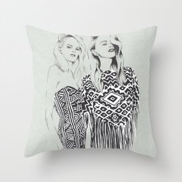 Emilio Pucci's fashion show (Spring 2014) Throw Pillow