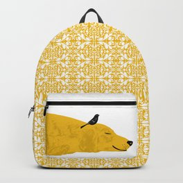 Golden Retriever Dog sleeping Backpack