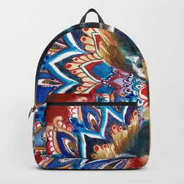 Monkey Floral Yoga Mandala Backpack