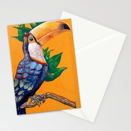 Beautiful Parrot Painting Stationery Cards