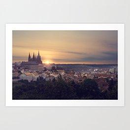 Sunrise in Prague Art Print