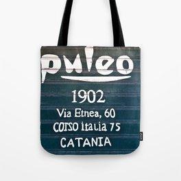 Via Etnea in Catania at the Isle of Sicily Tote Bag