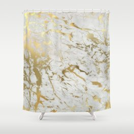 Gold marble Shower Curtain